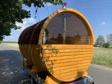 Sauna Panoramasauna mit Vordach auf Anhänger 1500KG