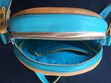 Leder Handtasche Rund