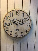 Vintage Wanduhr aus Metall