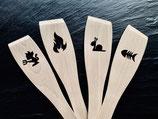 Pfannenwender Holz (Buche) mit Motiv