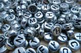 DIY Buchstabenperlen silber - schwarz