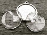 DIY Cabochon - Charm Tibetsilber 20 mm