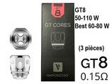 VAPORESSO GT8  CORES 0,15 oMh