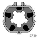 Adaptateur pour moteur Simu/Somfy - Tube ZF80