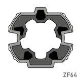 Adaptateur pour moteur Simu/Somfy - Tube ZF64
