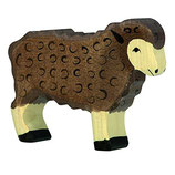 Holztiger Schaf braun