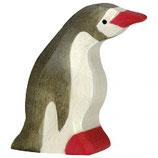 Holztiger Pinguin klein Kopf nach vorne