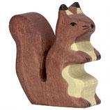 Holztiger Eichhörnchen braun