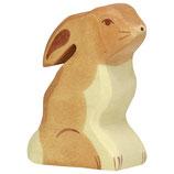 Holztiger Hase, sitzend