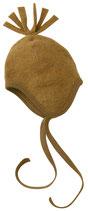 Engel Baby-Mütze Wollfleece mit Bommel