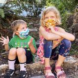 Marley's Monsters Kids Face Mask with Ear Loops  - Mund und Nasenabdeckung für Kinder mit Ohrbänder