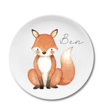 Breakfastplate with name fox Ben