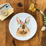 Breakfast plate hare with flowers