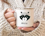 Enamel mug with name racoon Anna