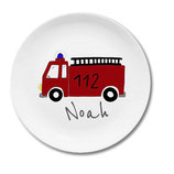 Large plate with name fire engine 112