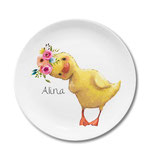 Breakfast plate with duckling