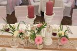 Vintage-Kerzenhalter in weiß