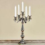 Kerzenständer - 5 armig silber