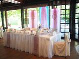 Brautpaartisch-Hintergrund (5-teilig)