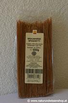 Braunhirse Spaghetti