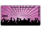 Einladungskarten zum Geburtstag als Eintrittskarte Konzertkarte Ticket  Einladung Art. 041