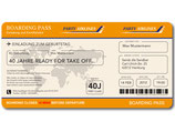 Einladungskarte als Flugticket Boarding Pass Art. 062 ORANGE