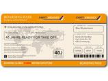 Einladungskarte als Flugticket Boarding Pass Art. 062 ORANGE