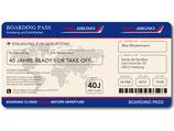 Einladungskarte als Flugticket Boarding Pass Art. 060 BLAU