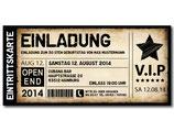 Einladung zum Geburtstag als Eintrittskarte, Ticket Art 071