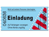 Einladungskarte als Ticket / Eintrittskarte