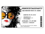 Einladungskarte zum Geburtstag als Eintrittskarte, Ticket, Konzertkarte, Partyticket  Art.045