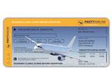 Einladungskarte als Flugticket Boarding Pass Art. 065