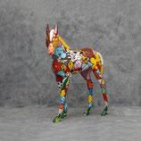 3265 VH Fohlen Figur lebensgroß Deko Garten Gastro Werbe Figur