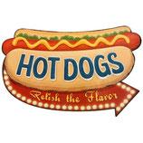 RIMP101 Blechschild Werbeschild Hot Dogs Gastrodeko