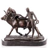RIYB175 Bronzefigur Stierkämpfer mit Stier