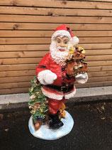 RIA88 Weihnachtsmann Figur mit Lampe