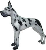 GAN016 Dogge Hund Figur lebensgroß schwarz-weiß