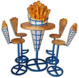 Ifb013 Sitzgruppe Pommes Tisch mit 4 Stühlen