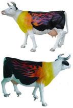 ID002a Kuh Figur lebensgroß Deutschlandfarben