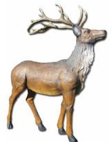 RIA1386 Hirsch Figur lebensgroß