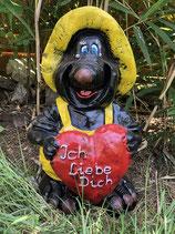"""KR 56 DO Mauly Figur """" Ich Liebe Dich """" mein Verein schwarz-gelb"""