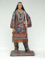 90998 Indianer Frau Figur lebensgroß