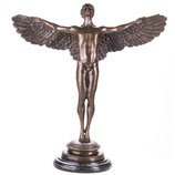 RIYB589 Mythologische Bronzefigur Ikarus