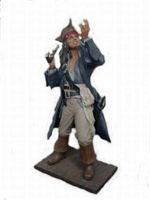 14105 Pirat Figur steht lebensgroß