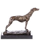RIYB513 Bronzefigur Jagdhund / Windhund
