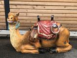 RIB219 Krippe Kamel Figur liegt fast lebensgroß