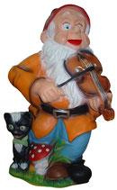 M011 Gartenzwerg Figur spielt Geige