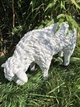 122020 Schaf Figur frisst Deko Garten Tier Werbe Figur