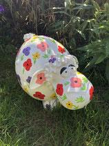 RIB320 Schaf Figur lustig bunt Deko Garten Tier Werbe Figur