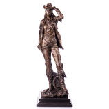 RIYB427 Western Bronzefigur Cowgirl